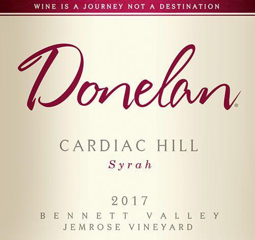 Donelan: Cardiac Hill 2017 wine label